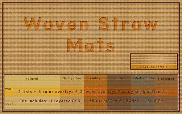 Woven Straw Mat - Patterns Backgrounds