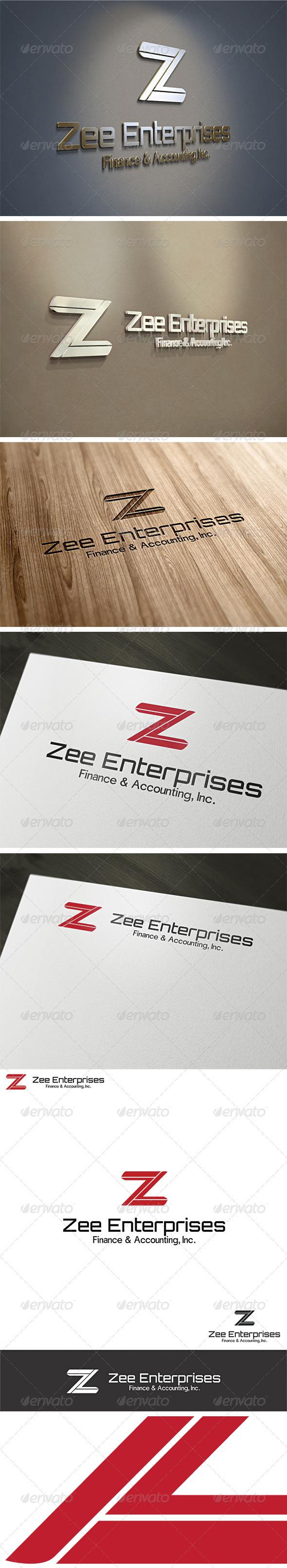 Letter Z - Zee Enterprises Logo Template - Letters Logo Templates