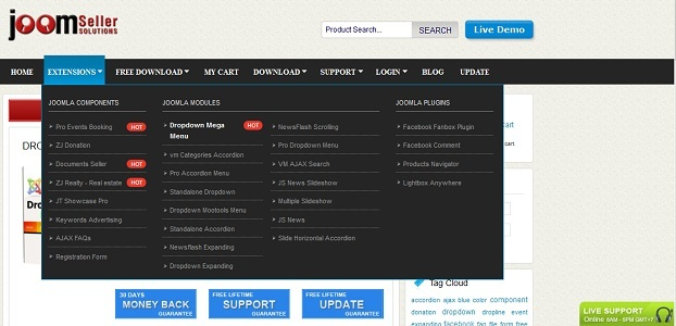 CodeCanyon Dropdown Mega Menu 2536632