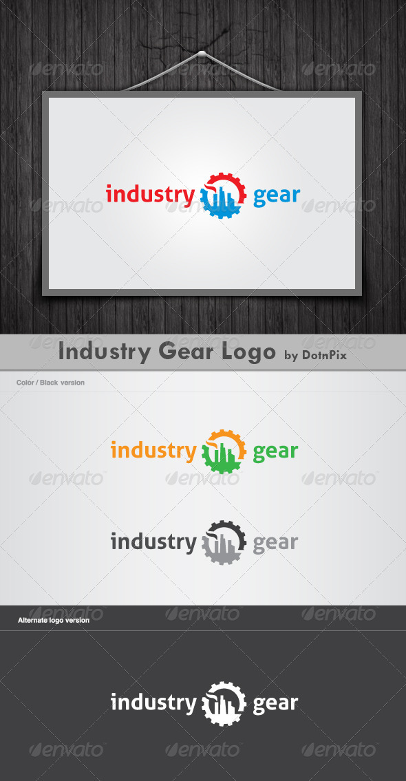 Industry Gear Logo - Buildings Logo Templates
