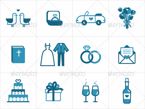 Wedding Icons - Seasonal Icons