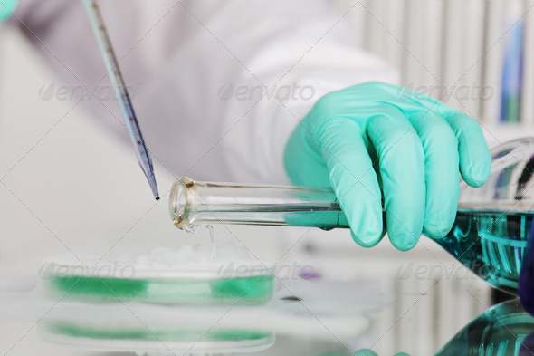 Chemistry experiments - Stock Photo - Images
