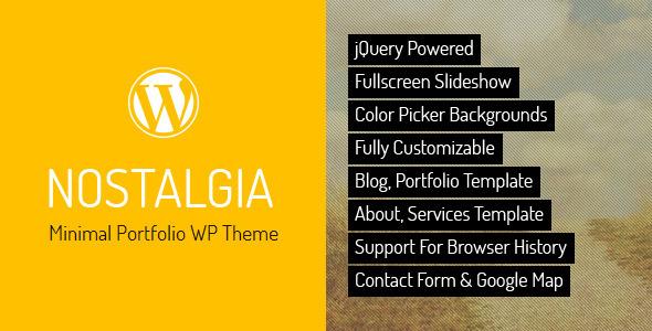 ThemeForest Nostalgia Portfolio WordPress Theme 2438038