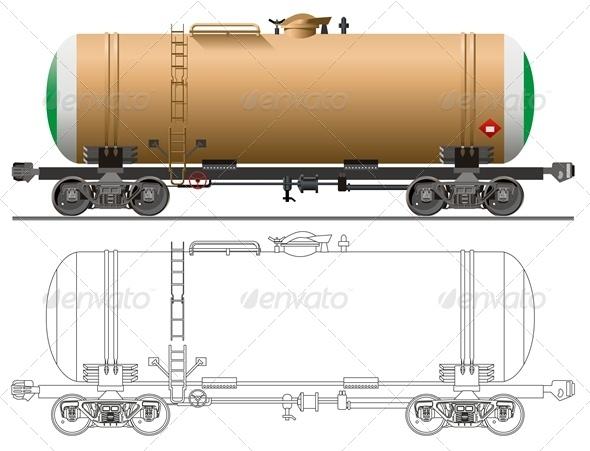 Vector Tanker Car