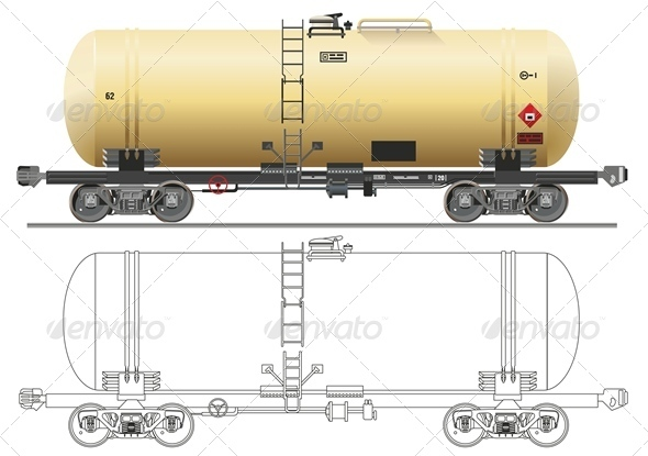 Vector Oil Gasoline Tanker Car
