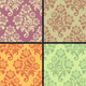 Vector seamless floral wallpaper - GraphicRiver Item for Sale