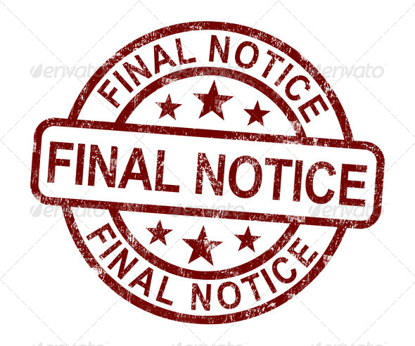 Final Notice Stamp Shows Outstanding Payment Due - Stock Photo - Images