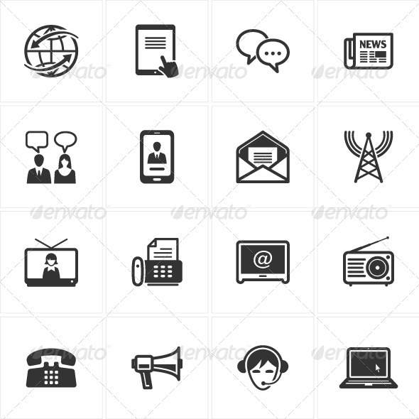 GraphicRiver Communication Icons-Set 2 2535218