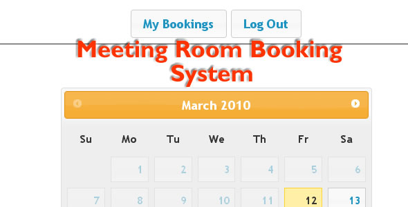 CodeCanyon Meeting Room Booking System 92669