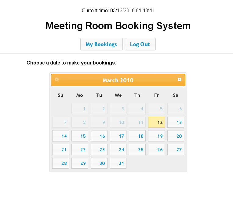 Calendar Booking System Php : Meeting room booking system by dilab codecanyon
