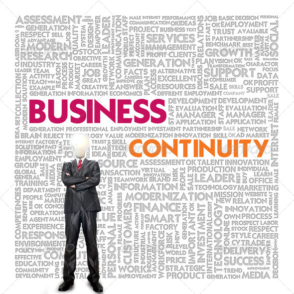 Business word cloud for business concept, Business continuity - Stock Photo - Images