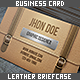 Leather Briefcase Business Card - GraphicRiver Item for Sale