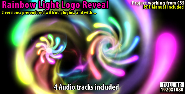 VideoHive Rainbow Light Logo Reveal 2543033