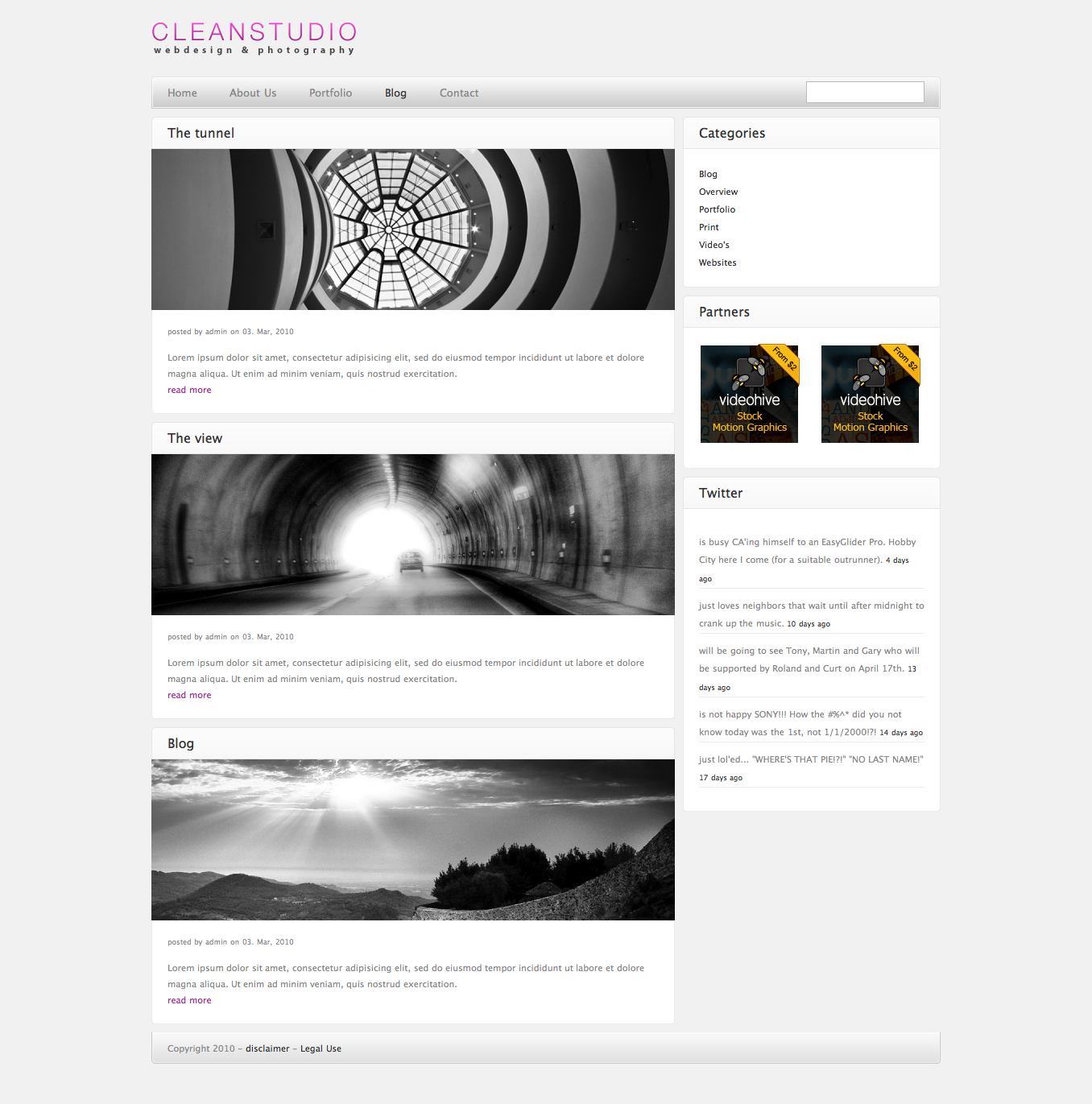 CLEAN STUDIO - WORDPRESS