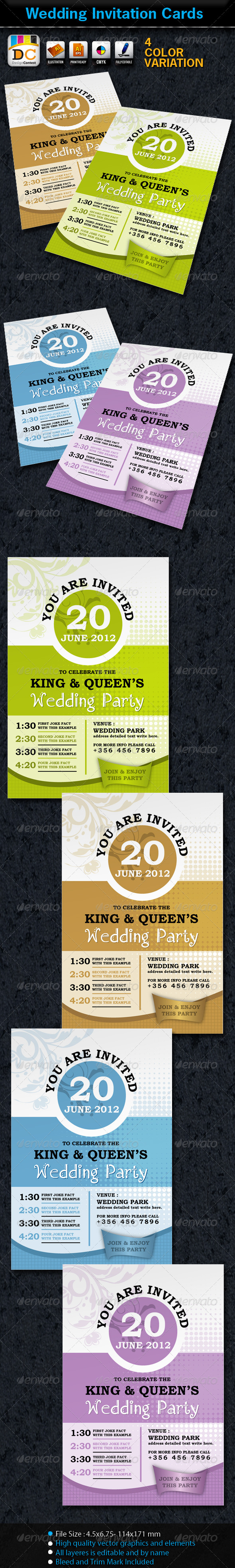 GraphicRiver Wedding Marriage Invitation Card Sets 2543333