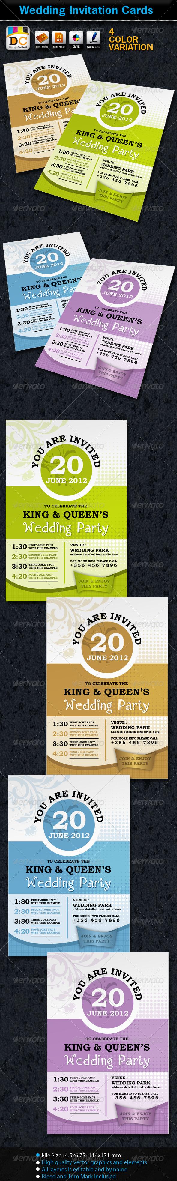 Wedding Marriage Invitation Card Sets