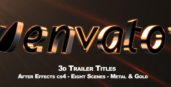 VideoHive 3D Trailer Titles 2529357