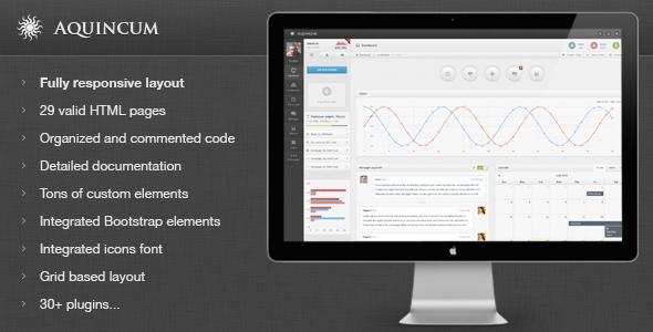 Aquincum - Premium Responsive Admin Template - Admin Templates Site Templates