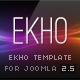 EKHO Unique Joomla Template  Free Download