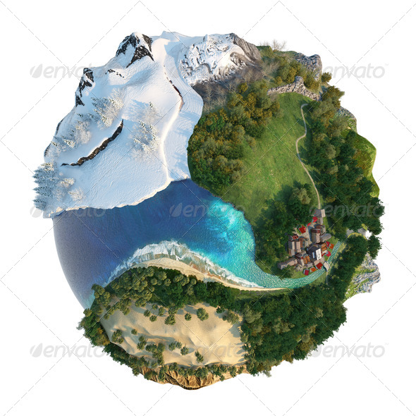 Stock Photo - PhotoDune Globe landscapes diversity 2544865