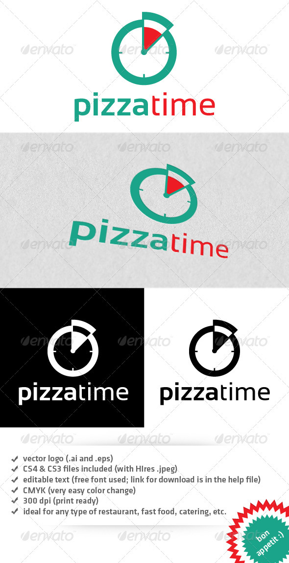 Pizza time logo - Food Logo Templates