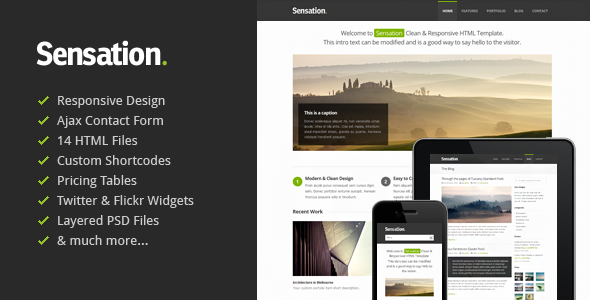 ThemeForest Sensation Responsive HTML Template 2524079