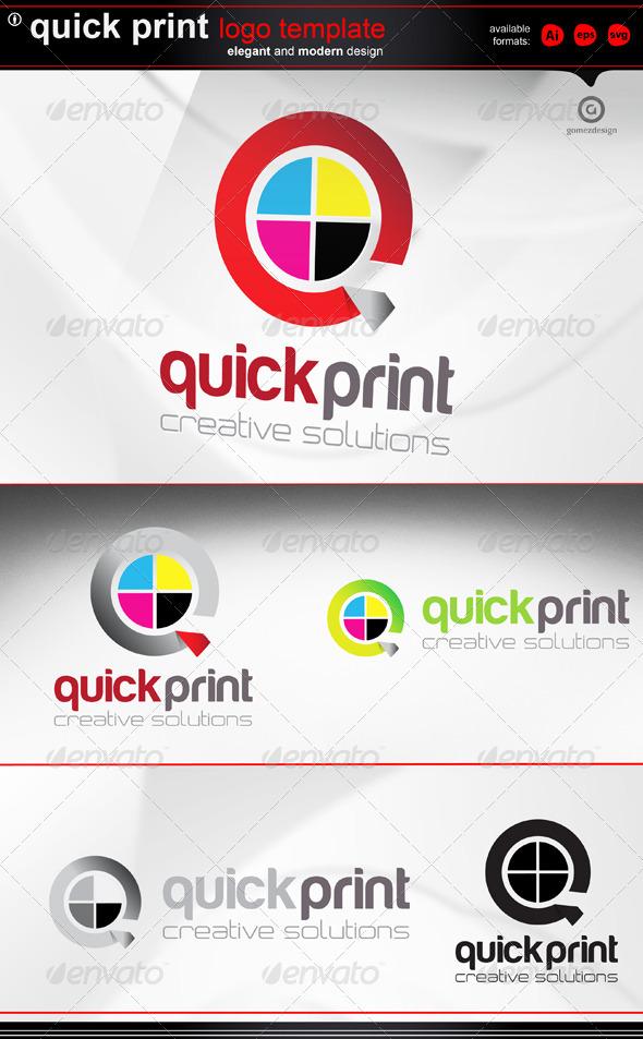 Quick Print  - Letters Logo Templates