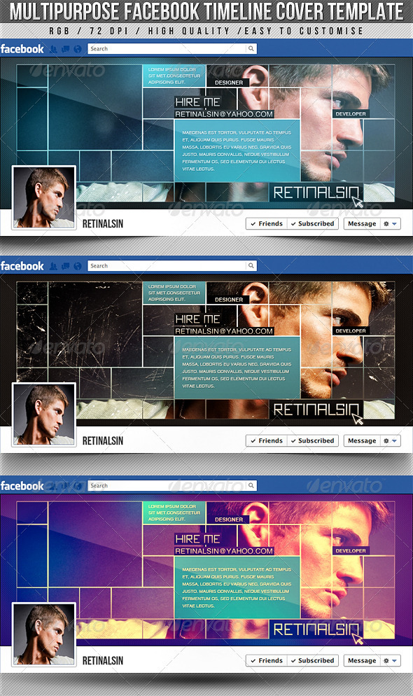 GraphicRiver Multipurpose Facebook Timeline Cover 2545020
