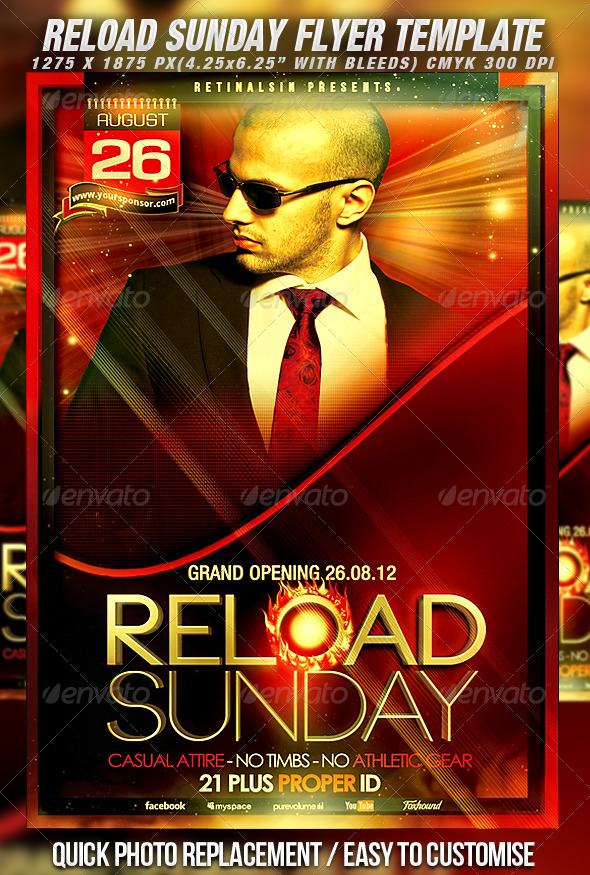 GraphicRiver Reload Sunday Flyer Template 2545057