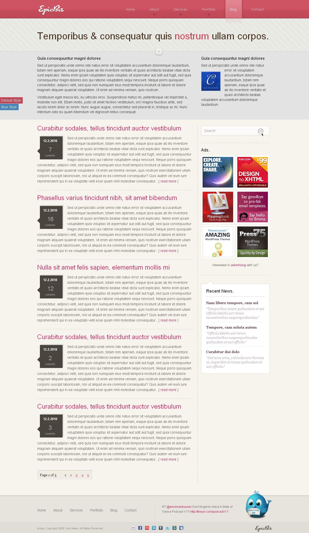 EpicBiz - HTML Theme
