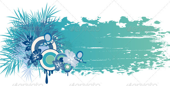 Blue Summer Banner - Seasons Nature