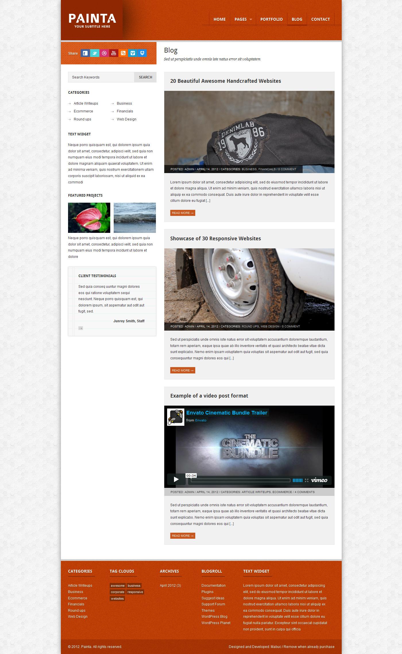 Painta: Business WordPress Theme