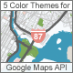 5 Color Themes for Google Maps API