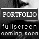 Coming Soon Page with a Full Screen Portfolio