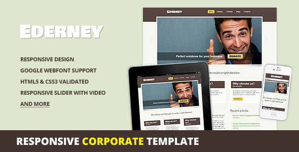 ThemeForest Ederney Premium Corporate HTML5 Template 2547544