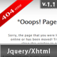 Fancy Jquery 404 Error Popup