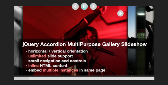 jQuery Accordion MultiPurpose Gallery Slideshow - CodeCanyon Item for Sale