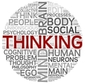 Thinking concept in word tag cloud - PhotoDune Item for Sale