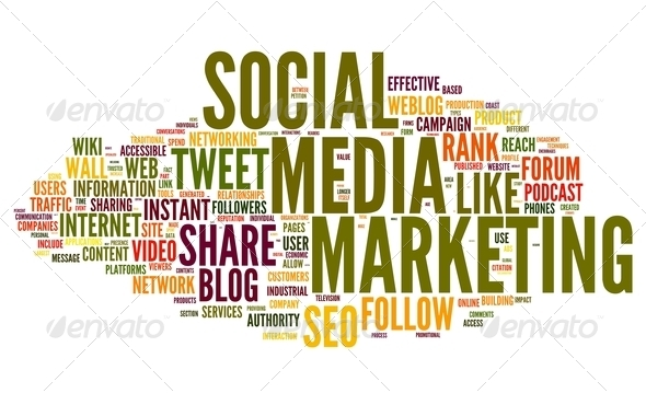 PhotoDune Social media marketing in tag cloud 2547965