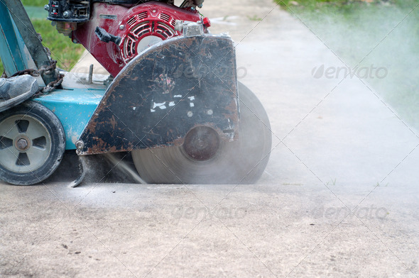 Concrete Saw - Stock Photo - Images