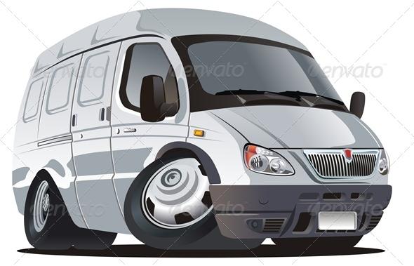 GraphicRiver Vector Cartoon Van 2548000