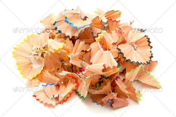 Pencil shavings - Stock Photo - Images