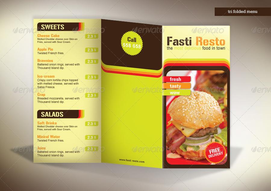 image gallery tri fold menu