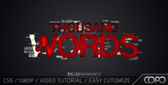 After Effects Project - VideoHive Thousand Words Cinematic Title 2517659
