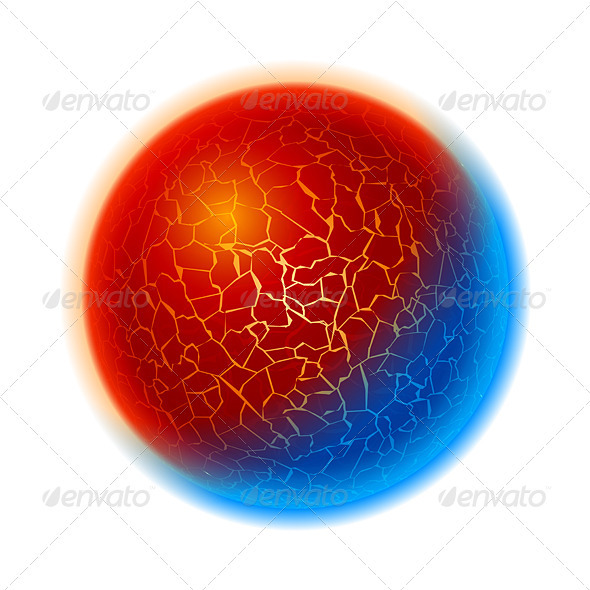 Fire and ice ball planet - Backgrounds Decorative