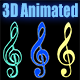 3D Animated, Spinning Clef - ActiveDen Item for Sale