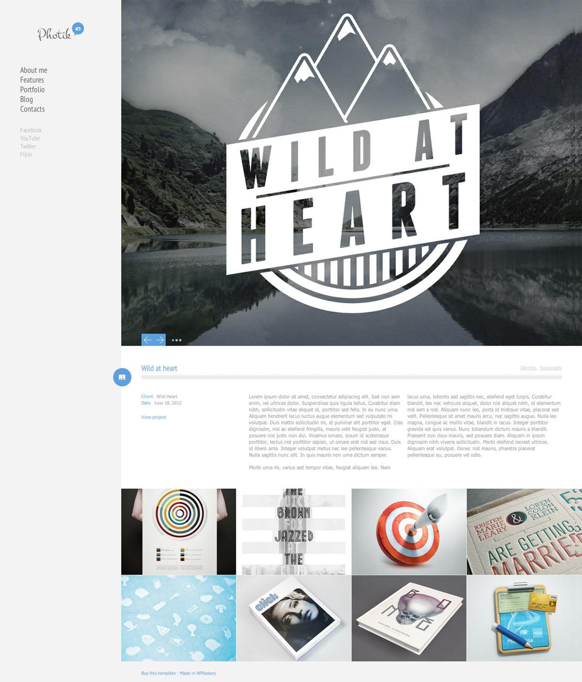 Photik – Responsive Portfolio & Blog WordPress Theme