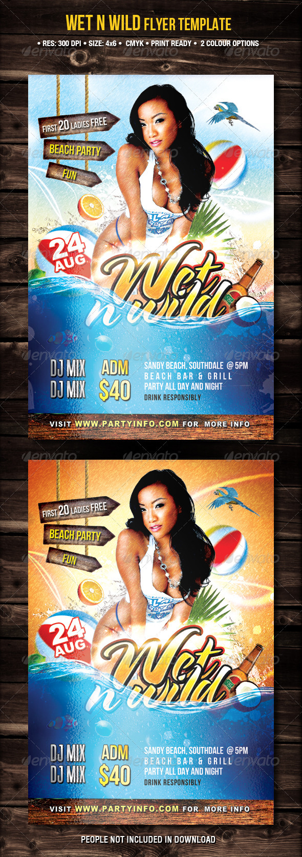 Wet N Wild Party Flyer - Flyers Print Templates