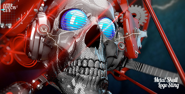 After Effects Project - VideoHive Metal Skull Head Logo Sting 2549521