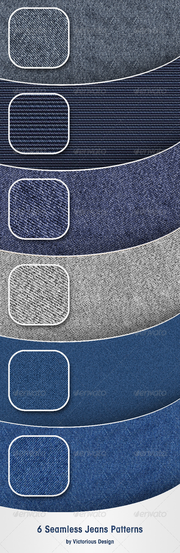 6 Seamless Jeans Patterns - Textures / Fills / Patterns Photoshop